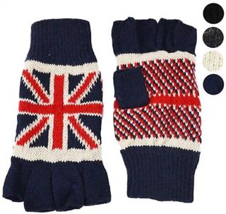 Union Jack Wear Union Jack bære Union Jack termisk vanter Blå