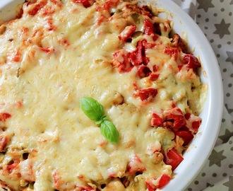 recipe: zapiekanka makaronowa z mięsem mielonym i pieczarkami [4]