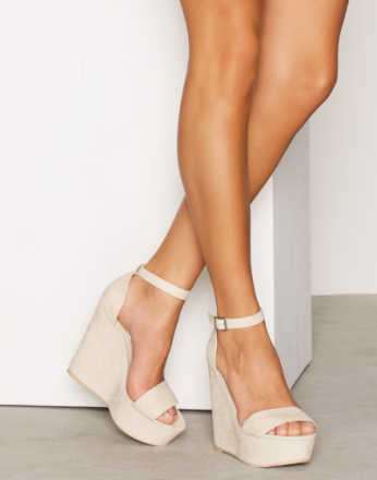 Wedge - Beige NLY Shoes Wedge Sandal