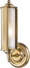 Classic no. 1 Væglampe i messing og glas H31,1 cm 1 x E27 - Antik messing/Frostet