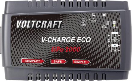 RC-batteriladdare 230 V 2 A VOLTCRAFT V-Charge Eco LiPo 2000 LiPo