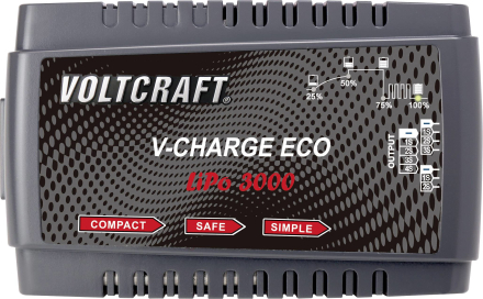 RC-batteriladdare 230 V 3 A VOLTCRAFT V-Charge Eco LiPo 3000 LiPo