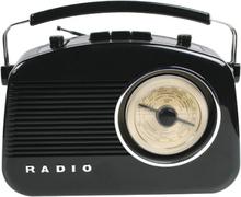 König AM/FM-radio i retrodesign SVART