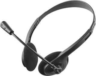 PC-headset 3,5 mm jack med kabel, stereo Trust Primo Chat On-ear Sort
