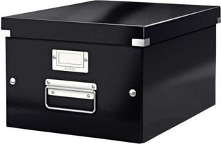 Leitz Click & Store opbevarings- og transportkasse medium (til A4), sort