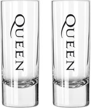 Queen - Crest -Sett med shotglass - transparent