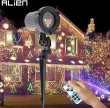 ALIEN RGB Remote Static Star Christmas Tree Snowflake Laser Light Projector Garden Outdoor Waterproof Xmas Holiday Shower Lights