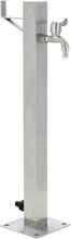 vidaXL Vattenpost för trädgården 65 cm rostfritt stål fyrkantig