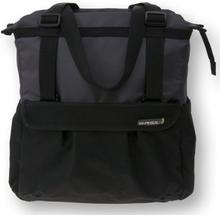 Basil Bicycle Bag Shopper - 20L Black-Anthracite XL