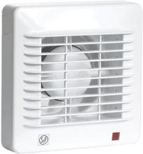 Thermex EDM 100TZ ventilator med etterløpstimer og kulelager, Ø100 mm, hvit