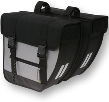 Basil Bicycle Bag Tour - Double Bag Black/Silver XL