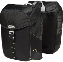 Basil Bicycle Bag Miles - Double Bag 32L Black Lime