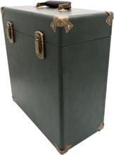 "GPO koffert till 12"" vinyl - Grön/Svart"