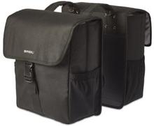Basil Go - Double Bag 32L Solid Black