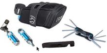 Kombipack Sadelväska, kolsyrep - miniverktyg, däcksavtagare
