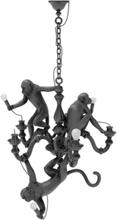 Monkey Chandelier Musta - Seletti