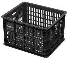 Basil Bicycle Crate M - Synthetic 33L Black