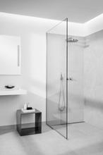 Unidrain Glassline Dusjvegg, 90 cm, Klart glass - Ekskl. gulvmodul
