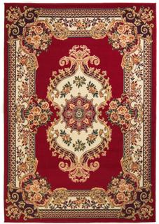Orientalsk teppe persisk design 160x230 cm - rød/ beige