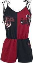 Harley Quinn - Logo - Träningsoverall - svart röd