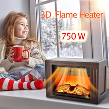 Embedded/Freestanding Electric Fireplace Flame Heater Overheating Safety Protection Indoor Easy to Assemble Christmas Decoration