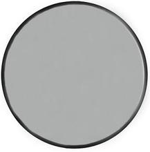 Velvet rund spegel 40cm - Svart sammet