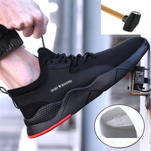 Men Shoes Steel Toe Shoes Work Safety Boot Breathable Anti-Piercing Safety Shoes Work Boots Indestructible Shoes Men Sneakers