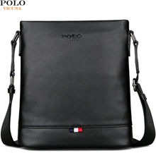 VICUNA POLO Classic Men Pure Color Messenger Bag With Back Pocket Man Handbag Beach Bag Black Casual Men's Crossbody Bag bolsa