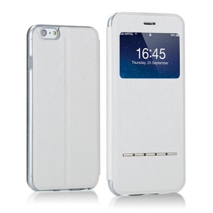iPhone 8 PLUS - Smartfodral, Färg: SKIMMERVIT