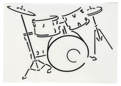 Design-Studio Worms Sticker Drums Anthracite