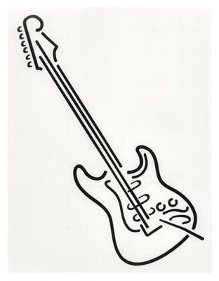 Design-Studio Worms Sticker E-Guitar 3 Anthracite