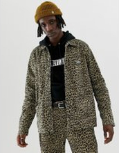 Obey Leopard Print Labor Jacket - Brown