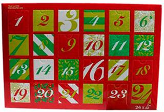 Te julekalender - 24 dejlige tebreve i rigtig god kvalitet fra Lifted Cup