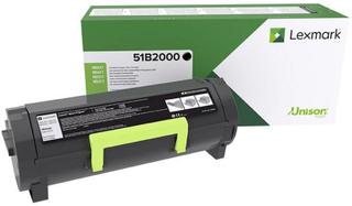 Lexmark Retur toner MS317 MS417 MS517 MS617 MX317 MX417 MX517 MX617 51B2000 Original Sort 2500 Sider
