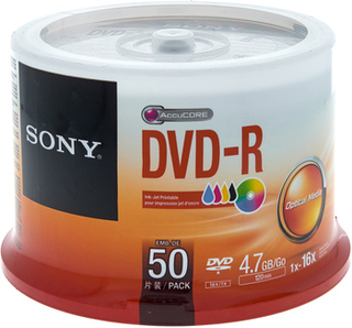 Sony DMR47 DVD-R Ink Spindle 50pcs