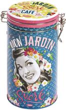 Plåtburk Kaffeburk 'Mon Jardin Sucré'