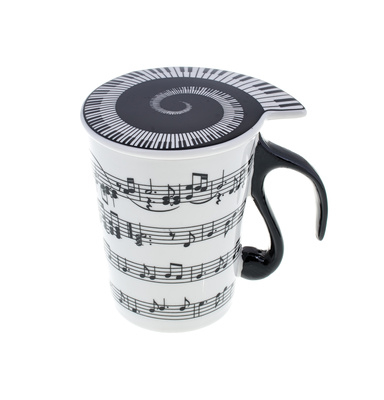 """Music Sales Cup with Lid """"""""Staff Lines"""