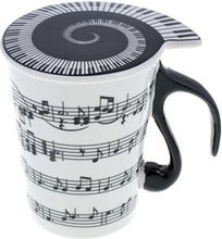 "Musicwear Cup with Lid """"Staff Lines"
