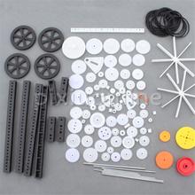 1pack J620b 92 Different Gears Belt Wheel Sector Gear Worm Gears DIY Toy Car Making