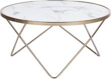 Sohvapöytä valkoinen marmori/kulta MERIDIAN II