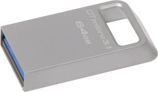 Kingston DataTraveler Micro 3.1 USB-flashdrev 64 GB Sølv DTMC3/64GB USB 3.1