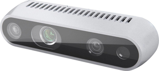 Intel RealSense Depth Camera D435 Full HD-webcam 1920 x 1080 pix Klemmeholder, Fod