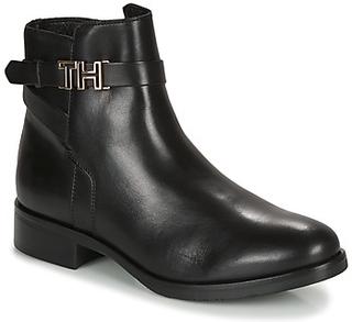 Tommy Hilfiger Støvler TH HARDWARE LEATHER FLAT BOOTIE Tommy Hilfiger