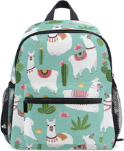 Cute Children Backpack Llama And Cactus Bags Kids Baby School Bags Cute Schoolbag for Kindergarten Preschool Girl Animal Bag Hot