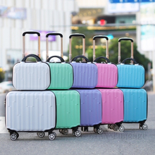 New 18inch Travel Luggage set Women suitcase on wheels kids rolling luggage ABS trolley luggage bag set cabin suitcase carry ons