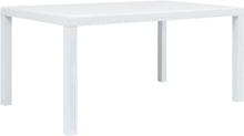 vidaXL havebord hvid 150 x 90 x 72 cm plastik rattanlook