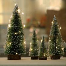 Mini Christmas Tree 10/15/20/25/30cm White Cedar Pines Desktop Decoration Xmas Tree Home Room Table Ornament Arbol Navidad