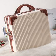 Suitcase Small Suitcase Women's Cute Cosmetic Case Small Lightweight 16-Inch Suitcase Mini Storage Bag escolar Combination lock