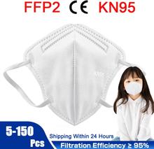 5-150 Pcs KN95 mascarillas FFP2 Mask maske Children's Masks CE 95% Filtration Boy and Girl Reusable маска Kids Face Masks masque