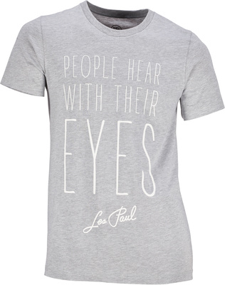 Les Paul Merchandise T-Shirt People Hear With S